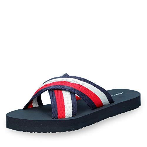 Plattform-flip-flop-sandalen (Tommy Hilfiger Damen Colorful Tommy Slide Sandal Zehentrenner, Rot (RWB 020), 37 EU)