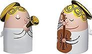 Alessi AMGI26Set1 Angels Band Set di Due Statuine in Porcellana, Decorate a Mano