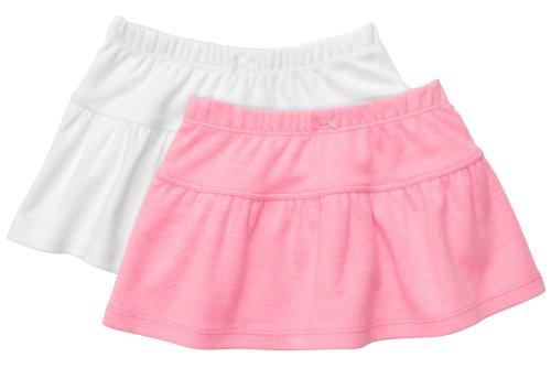 Carter's 2 Stück Mädchen Röcke girl skirt 2-er Pack Rock Sommer Kleidung süß (6 Monate, rosa/weiss) (Carters Stück 2)