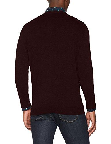 SELECTED HOMME Herren Pullover Shdtower Cot/Silk V-Neck Noos Rot (Bordeaux)