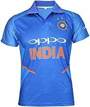 KD Cricket India Jersey Half Sleeve Cricket Supporter T-Shirt New Oppo Team Uniform Polyster Fit Material 2019