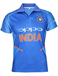 KD Team India ODI Cricket Supporter New Oppo Jersey 2019-20 Kids to Adult