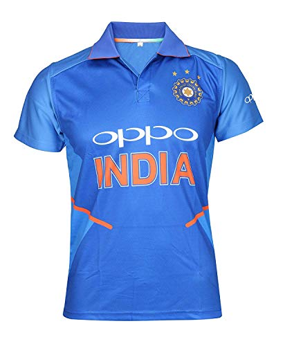 9416a4745 KD Team India ODI Cricket Supporter New OPPO Jersey 2019-20 Kids to Adult(