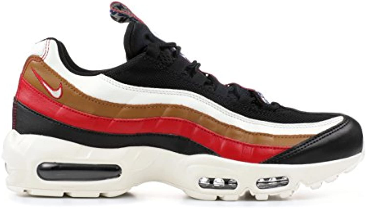 Air Max 95 TT Pull Tab Black Sail Ale Brown Gym Red AJ4077 002 Laufschuhe Herren Damen