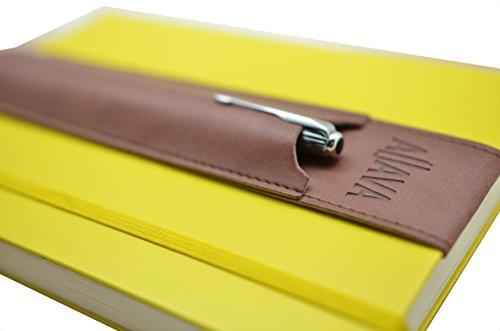 stiftehalter-aljava-aus-kunstleder-braun-fr-a5-notizbuch-kalender-und-adressbuch-mit-hardcover-zb-vo