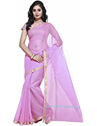 Rajnandini Women's Pure Cotton Saree With Blouse(JOPLSRS1057G_Light Pink_Free Size)