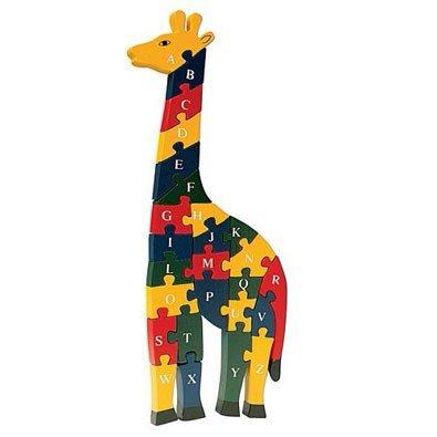 lakshya Wooden Giraffe Puzzle- 26 Letter Alphabet Learning Block Puzzle for Nursery Kids (A-Z) (girraffe)