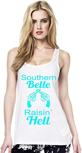 Southern Belle Raisin' Hell Slogan Womens Continental Tunic Vest Large