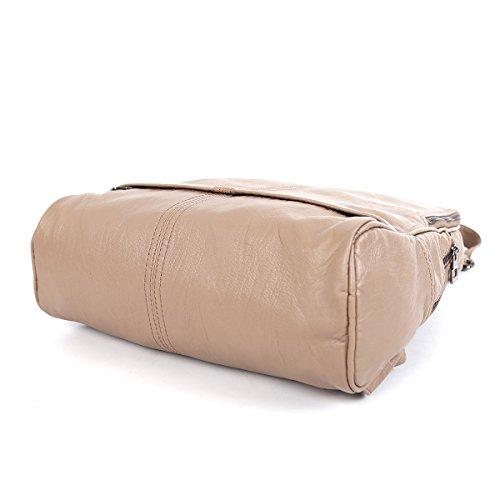 21KBARCELONA Cuoio lavato di alta qualità zaino borsa XS160423 Marrone
