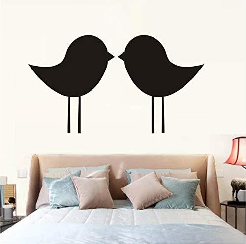 Pbbzl Simple Contour Couleur Sticker Mural Mignon Embrasser Oiseaux Vinyle Art Salon Tête De Lit Décor Papier Peint 59X33 Cm
