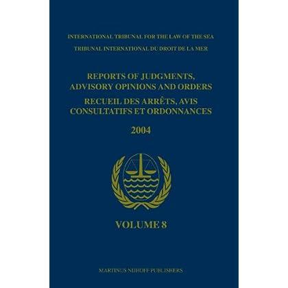Reports of Judgments, Advisory Opinions And Orders 2004 / Recueil Des Arrets, Avis Consultatifs Et Ordonnances, 2004