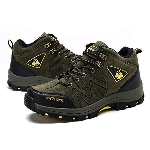 Fascino-M』 Wanderschuhe Herren rutschfeste Leichte rutschfest Trekking Wanderstiefel Trekkingstiefel Männer Für Abenteuer Outdoor Schuhe Männer für Sport Hiking Wanderhalbschuhe (Espresso-holz-schuh)