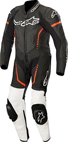 Alpinestars Youth Gp Plus Leather Suit 1 Pc Nero Bianco Rosso Fluo 150