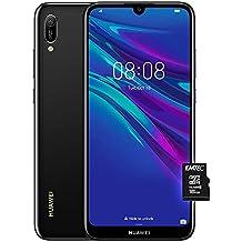 """Huawei Y6 2019 (Nero), Telefono con 32 GB, Display 6.09"""" HD+, Processore Quad Core [Versione Italiana]"""