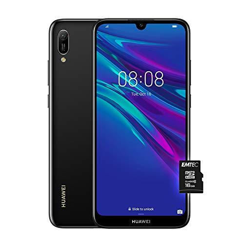 huawei y6 2019 (nero), telefono con 32 gb, display 6.09 hd+, processore quad core [versione italiana]