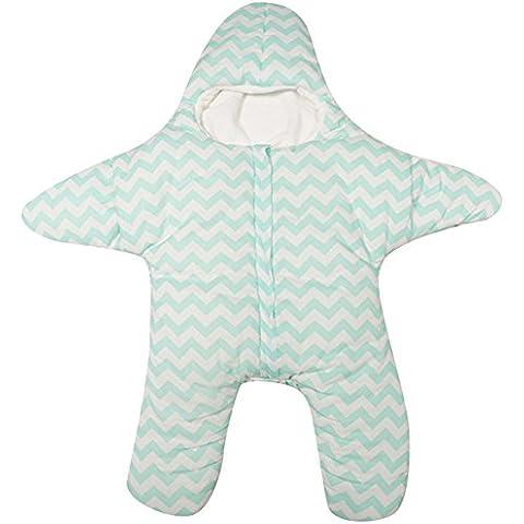 Le SSara Saco de dormir de bebé niño recién nacido empavesado bolsa estrellas de invierno