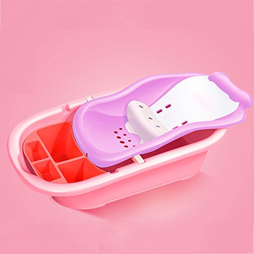 HWG-MAHR Baby Badestuhl Anti-Rutsch-Bad Kann Badehalterung Dicker Liegen Baby-Dusche-Kissen Bad Bett,B
