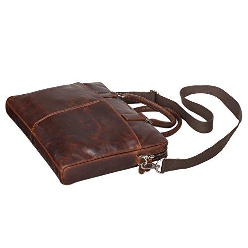 STILORD 'Emilio' Borsa a tracolla da uomo donna pelle vintage grande borsa a mano elegante portadocumenti borsa da lavoro ventiquattrore da ufficio per laptop 13.3 pollici, Colore:mocca - marrone mocca - marrone