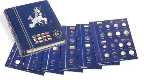 Preisvergleich Produktbild LEUCHTTURM Münzalbum für Euromünzen | Band 2 aus der VISTA Serie | Aufbewahrung für Kursmünzensätze der 12 Euro-Länder z.B. Bulgarien, Estland, Lettland, Litauen, Malta & andere Länder