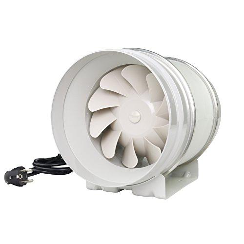 Steckdose Montiert Luft (Rohrventilator Rohrlüfter Zusatzlüfter Durchmesser 200 mm Absaug Ansaug Gebläse Industrie Zuluft Abluft Ventilation 2 Stufen)
