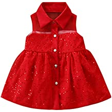 Vestido de tutú de Fiesta Princesa de Lentejuelas sin Mangas para bebés niñas recién Nacidos