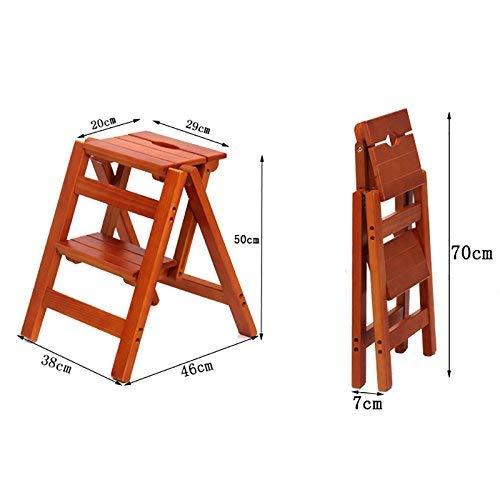 SED Stuhl Home Schuhbank Hocker-Schritt Hocker Massivholz Folding Zwei-Stufen-Leiter Multifunktions Indoor Ascend Stuhl Blume Stehen Freizeit Sofa Bank,Weiß -
