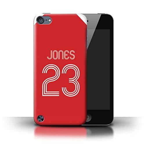 Personalisiert Individuell Fußball Vereine Trikots Kit Hülle für Apple iPod Touch 5 / Rot-Weiss Design/Initiale/Name/Text Schutzhülle/Case/Etui -