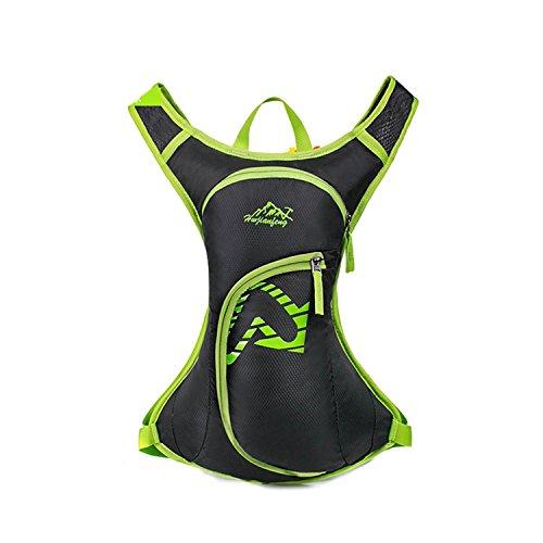 HWJF Reittasche Outdoor Freizeittasche Wasserdichte Nylon Camping Tasche Fahrradtasche Multifunktions Rucksack Green