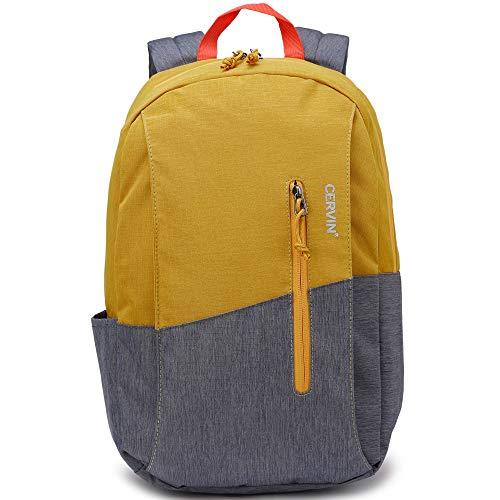 Nicgid Slim Rucksack Rucksack, Student Bookbag Casual Business Laptop Arbeitstasche Wasserdicht Leichter Daypack für Herren Mädchen passend für 13,3 35,8 cm (14,1 Zoll) Computer, 1802, gelb