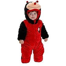 b96a64fee3846 OHmais Bébé Fille garçon Unisexe Grenouillère Costume Deguisement  Combinaison Pyjamas Hiver Coccinelle
