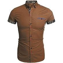 Coofandy Camisa Casual Manga Corta Verano Para Hombre