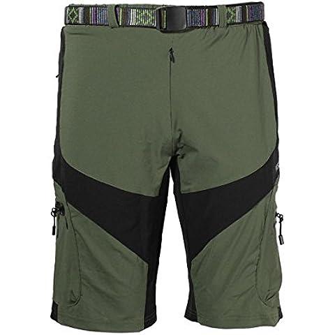 MaMaison007 ARSUXEO al aire libre de Shorts para hombre tiempo libre pantalones Ciclismo bicicleta bici - ejército verde-XL