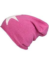 1f2b29b1207425 Cashmere Dreams Slouch-Beanie-Mütze mit Kaschmir - Hochwertige Strickmütze  für Damen Mädchen - Stern - Hat - One Size - Sommer Herbst…