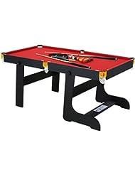 HLC 6 FT 188*97*79 CM faltbarer Billardtisch Pool Snooker Tischspiel Rot