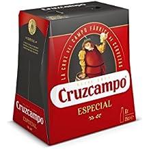 Cruzcampo Especial Cerveza - Pack de 6 Botellas x 250 ml - Total: 1.5 L