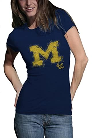 NCAA Michigan Wolverines Watercolor Junior Heather T-Shirt, Kinder, Michigan Wolverines