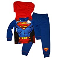 Superman Boys Novelty Pyjama with Cape 2 to 8 Years