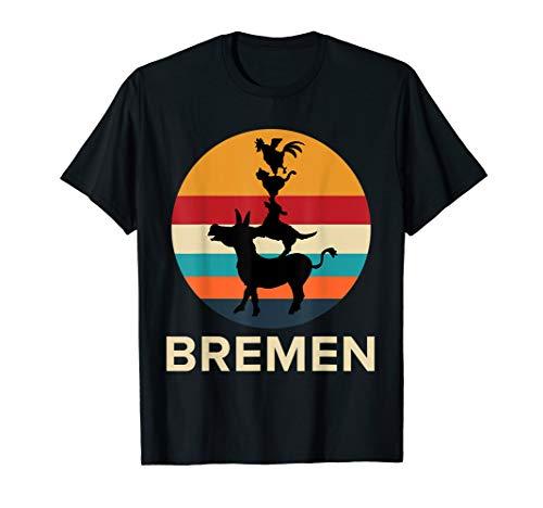 Bremer Stadtmusikanten, Geschenk aus Bremen für Fußball Fans T-Shirt (Fan-geschenke Fussball)