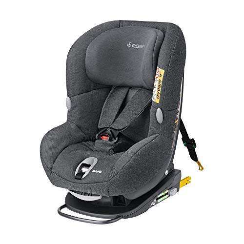 Maxi-Cosi MiloFix Kindersitz, Gruppe 0+ /1 Autositz (0-18 kg), Reboarder mit Isofix, nutzbar ab der Geburt bis ca. 4 Jahre, sparkling grey