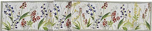 läufer 20x96 cm florales Motiv Blumenwiese Blüten Blumen (Tischband kurz) ()