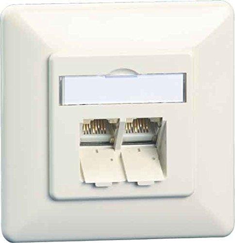 Preisvergleich Produktbild Metz Connect Anschlussdose C6A UP TN EDATC6A-2UP-rws 2xRJ45,UP,rws Kommunikationsanschlussdose Kupfer 4250184138570