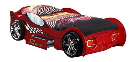 VIPACK SCTR200R Autobett Turbo Racing Rot , Maße ca.: 225