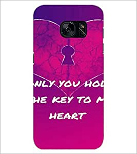 PrintDhaba Quote D-2866 Back Case Cover for SAMSUNG GALAXY S7 (Multi-Coloured)