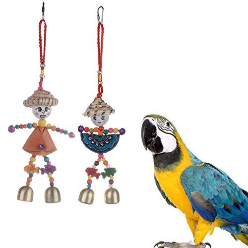 GREEN&RARE 1 Pieza de Juguete para Masticar pájaros, tamaño Grande, Mediano, Jaula para Loros, Juguete para morder en la Torre, Juguete para pájaros