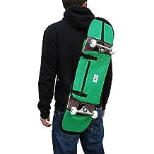 Bolsa o mochila de deporte para monopatin skate skateboard convertible color verde para transportar el patin