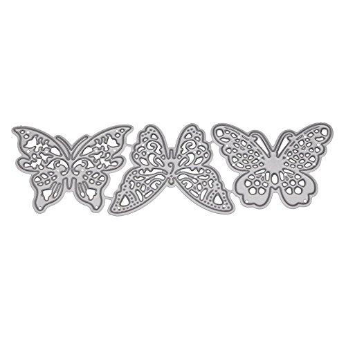 Presupuesto:Delicado corte de metal muere con un diseño de mariposa, encantador y hermoso.Hecho de material de acero al carbono duradero, reutilizable y fácil de usar.Herramienta de bricolaje perfecta para tarjetas de felicitación, invitaciones, álbu...