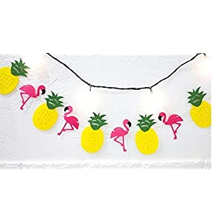 Pink Flamingo Pineapple Party Supplies Girls Room Decoration Happy Birthday Banner Pennant