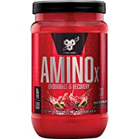 BSN Amino X Muscle Support Powder Supplement with Vitamin D, Vitamin A & Amino Acids. BCAA powder by BSN - Watermelon, 30 Servings, 435g