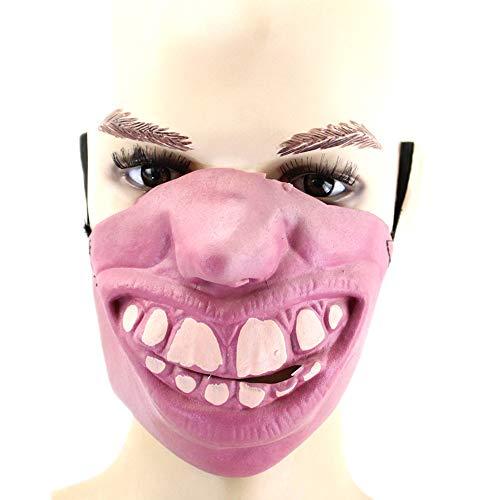 Halloween Kostüm Party Latex Lustige Halb-Gesicht-Maske,4 ()