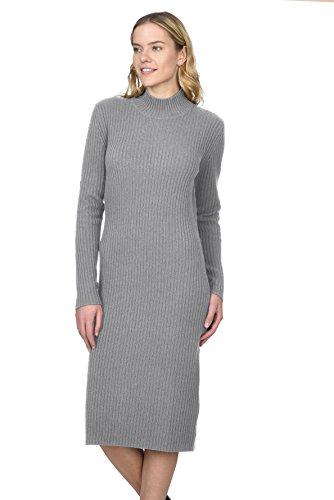 State Cashmere Damen 100% reines Kaschmir Rollkragen Langarm Pullover Kleid (Cashmere-rollkragen-kleid)